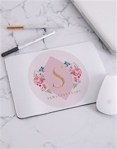 gifts: Personalised Budding Rose Mouse Pad!