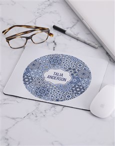 gifts: Personalised Blue Marrakesh Mouse Pad!