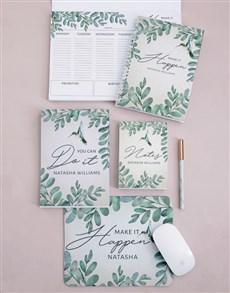 gifts: Personalised Leaf Take Note Set!