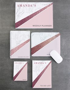 gifts: Personalised Marble Take Note Set!