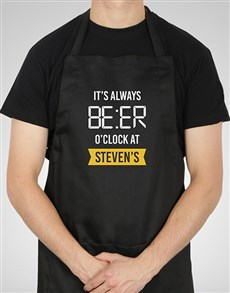gifts: Personalised Beer Time Apron!