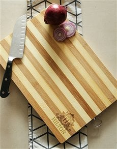 gifts: Personalised Crest Chopping Board!