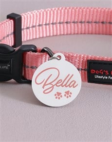 gifts: Personalised Pink ID Tag and Collar!