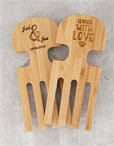 gifts: Personalised Name and Date Salad Servers!