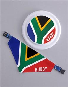 gifts: Personalised SA Frisbee and Bandanna !