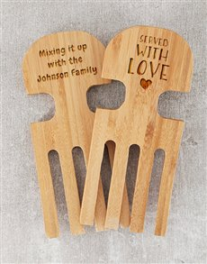 gifts: Personalised Mixing it Up Salad Servers!