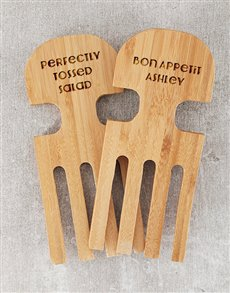 gifts: Personalised Bon Appetit Salad Servers !