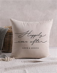 gifts: Personalised Happily Ever After Scatter Cushion!