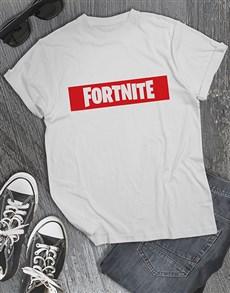 gifts: Red Fortnite Logo Mens Tshirt!