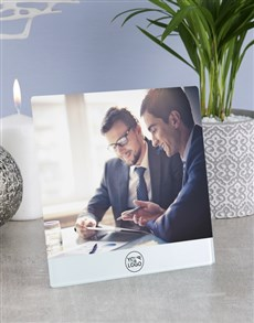 gifts: Personalised Your Company Logo Glass Tile !