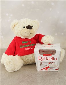 gifts: Personalised Christmas Teddy and Raffaello!