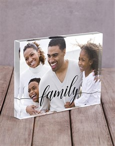gifts: Personalised Family Acrylic Block!