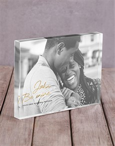 gifts: Personalised Be Mine Acrylic Block!