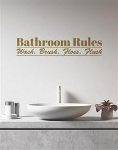 gifts: Personalised Bathroom Rules Wall Vinyl!