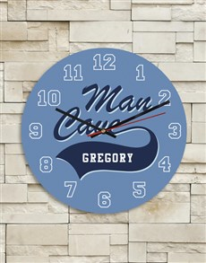 gifts: Personalised Blue Man Cave Clock!