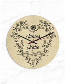gifts: Personalised Couples Names and Date Clock!