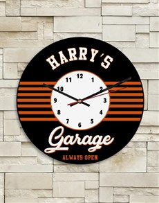 gifts: Personalised Garage Clock!