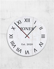 Personalised Surname Clock