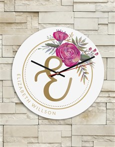 gifts: Personalised Floral Clock!