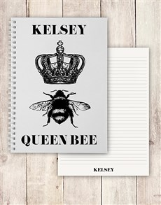 gifts: Personalised Queen Bee Notebook!