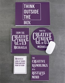 gifts: Personalised Genius Think Noteset!