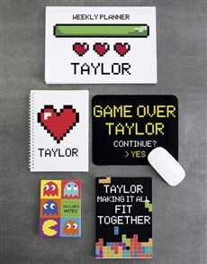 gifts: Personalised Retro Gamer Noteset!