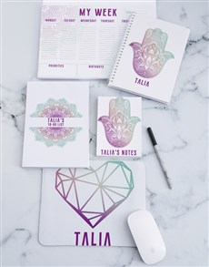 gifts: Personalised Serene Hamsa Noteset!