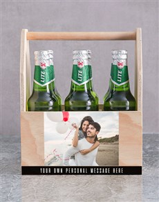gifts: Personalised Photo Printed Beer Crate!