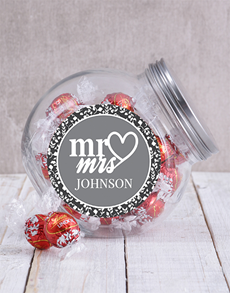 gifts: Personalised Mr & Mrs Candy Jar!
