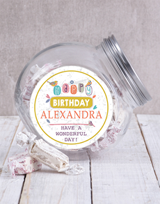 gifts: Personalised Birthday Message Candy Jar!
