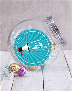 gifts: Personalised Well Done Shout Candy Jar!