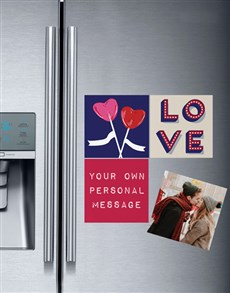 gifts: Personalised Love and Romance Fridge Magnets!