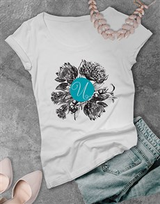 gifts: Personalised Autumn Initial Ladies T Shirt !