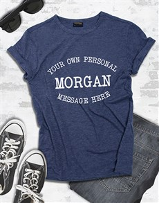 gifts: Personalised Navy Ladies T Shirt !