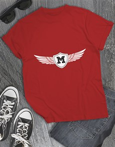 gifts: Personalised Winged Initial T Shirt !