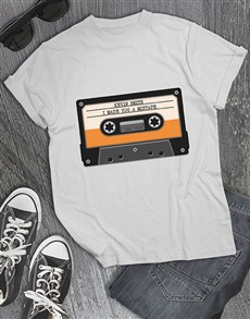 gifts: Personalised Mixtape T Shirt !