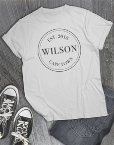 gifts: Personalised Legacy Stamp T Shirt!