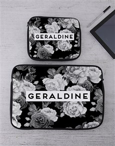 gifts: Personalised Black Rose Tablet or Laptop Sleeve!