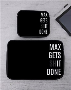 gifts: Personalised Gets It Done Tablet or Laptop Sleeve!