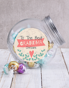 gifts: Personalised Best Grandma Candy Jar!