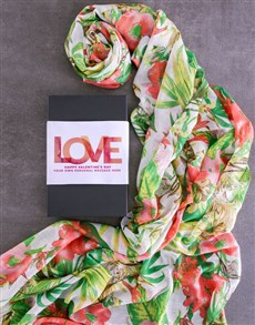 gifts: Personalised Valentines Scarf Gift!