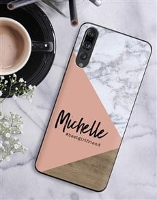 gifts: Personalised Blush Marble Huawei Cover!