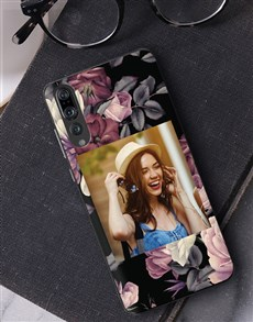 gifts: Personalised Floral Photo Huawei Cover!