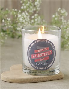 gifts: Personalised Pastels Valentines Candle!