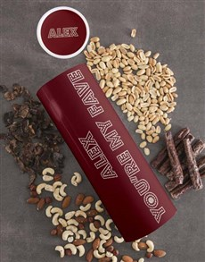 gifts: Personalised Fave Biltong and Nut Tube!