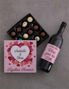gifts: Personalised Romance And Wine Gift Set!