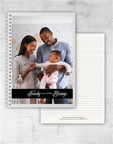 gifts: Personalised Family Blessings Notebook!