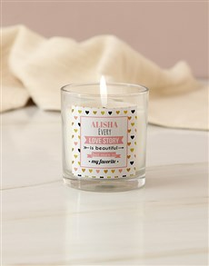 gifts: Personalised Love Story Candle!