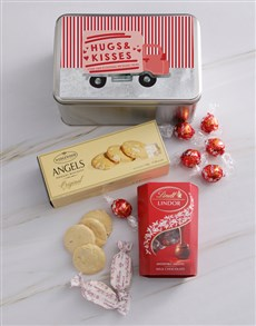 gifts: Personalised Hugs And Kisses Snack Tin!