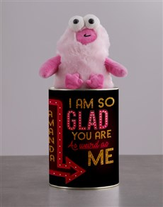 gifts: Personalised Weird As Me Teddy Tin!